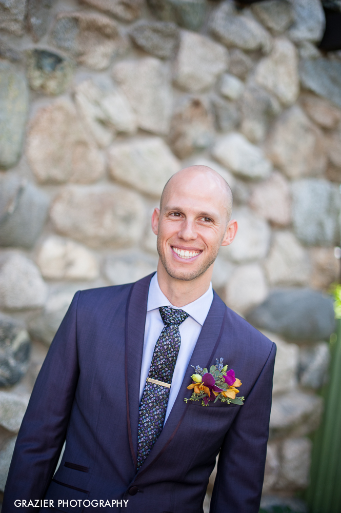 Pocket-square blooming boutonniere: Gorgeous floral designs by Michele Bernard for Willowdale Estate Wedding by Grazier Photography
