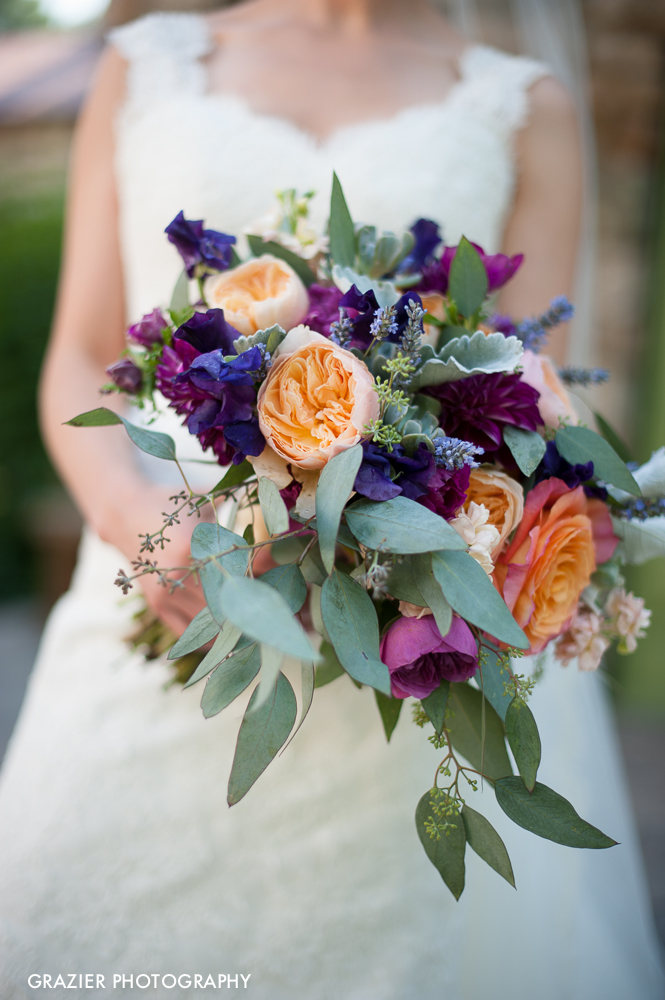 Gorgeous floral designs by  Michele Bernard  for Willowdale Estate Wedding by Grazier Photography