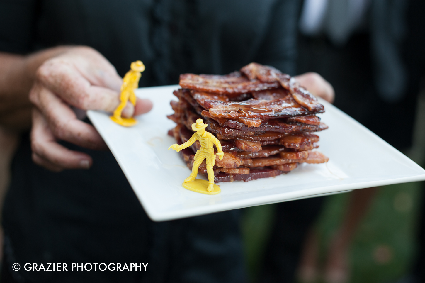 Tower o Bacon - Let's Pretend Catering, image copyright Grazier Photography