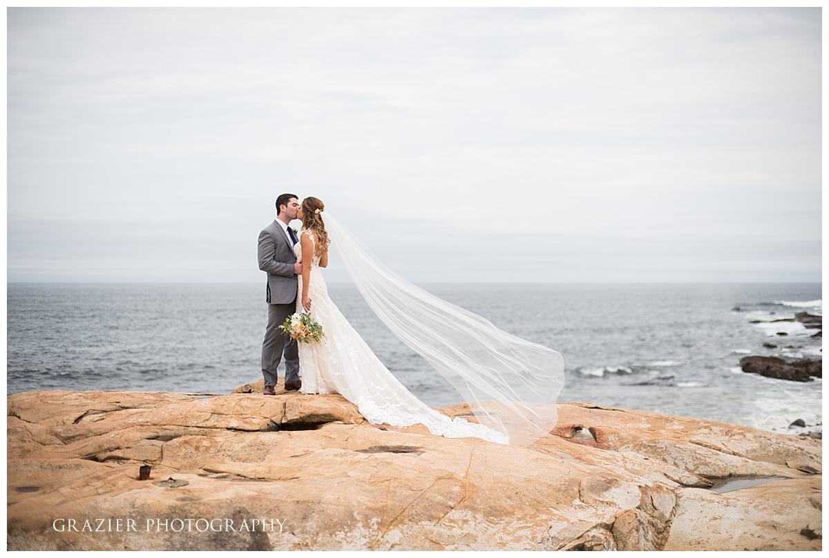 Beauport Hotel Wedding Rocks Portrait