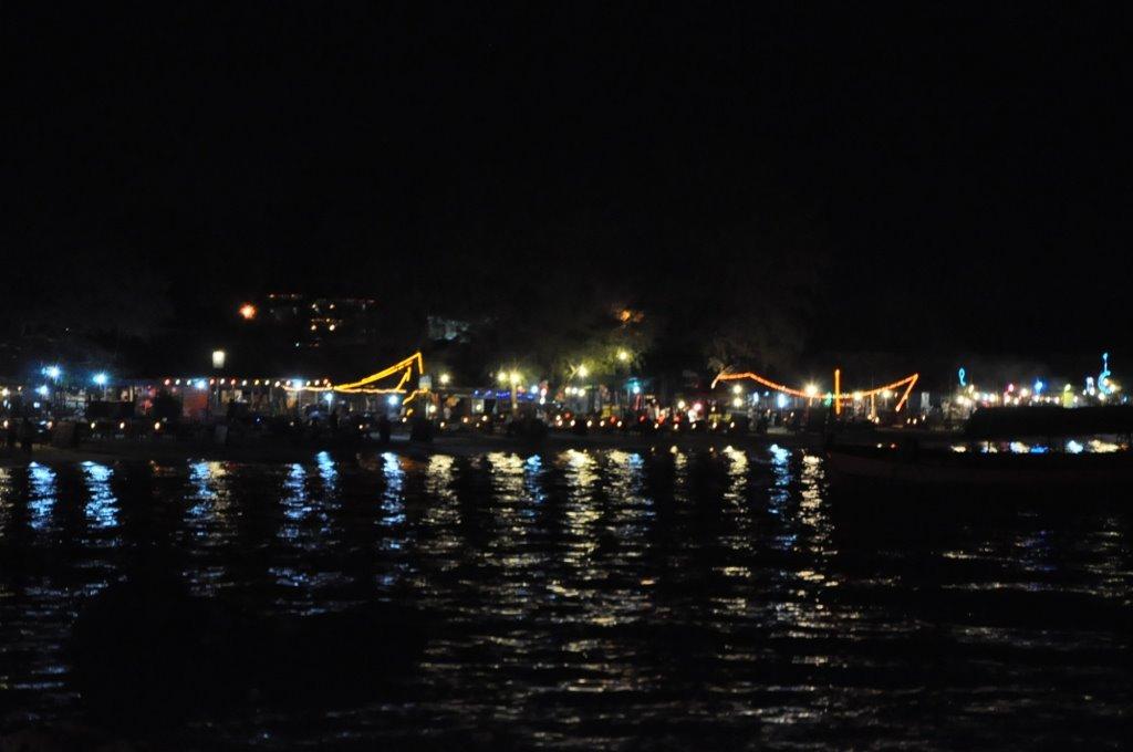Serendipity beach at night.