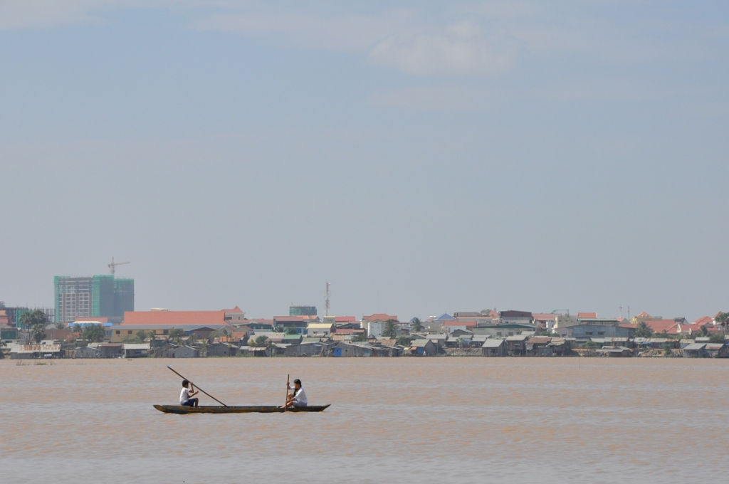 This is another shot of the lake in Phnom Penh.