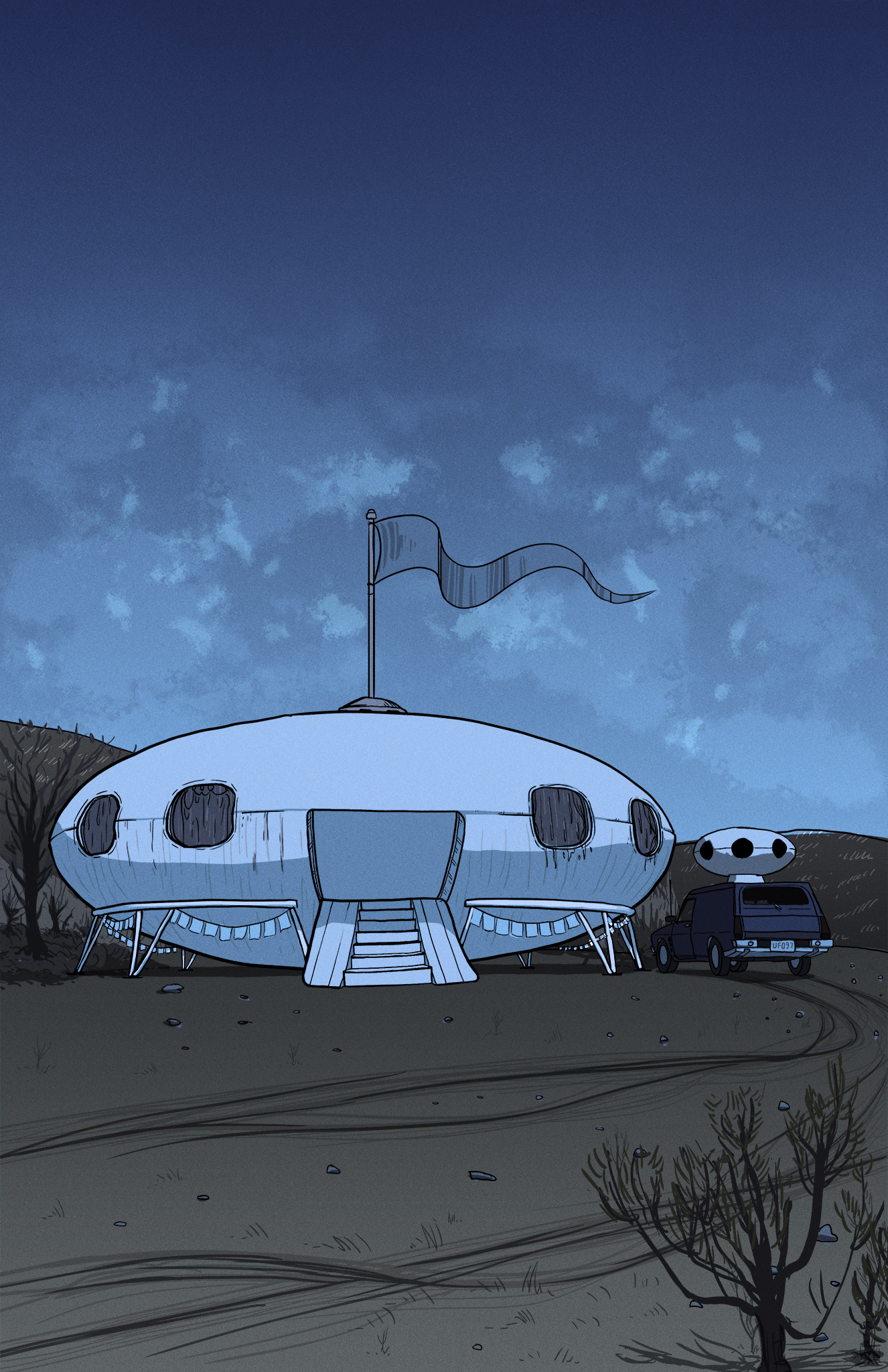 Another view of the Futuro House.