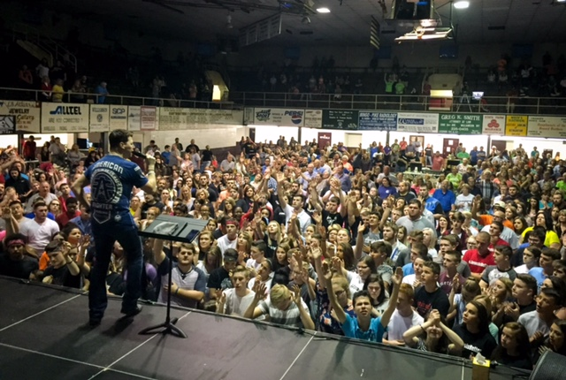 Revival crowd at the Williamson Fieldhouse in Williamson, WV.