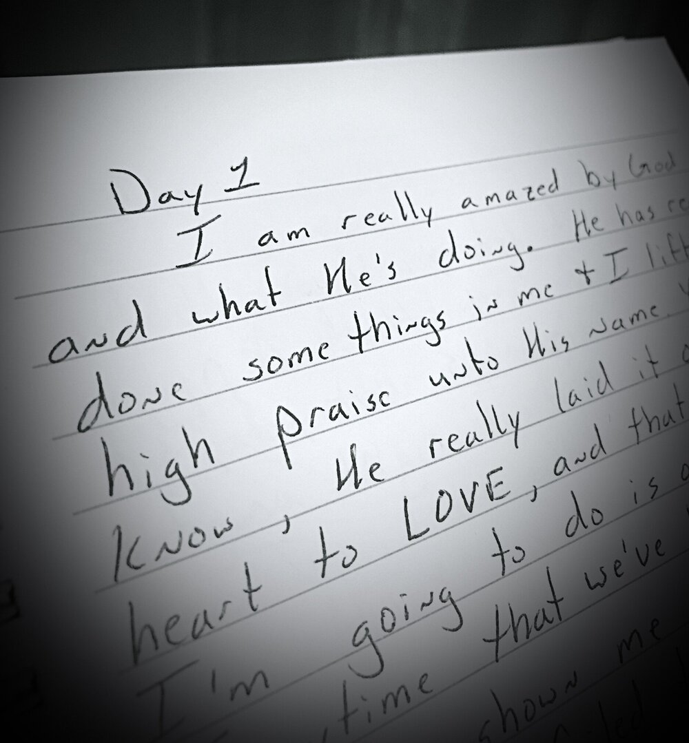 Day 1 (Oct. 7, 1999) of the journal I kept on the faith walk that lead to my marriage.
