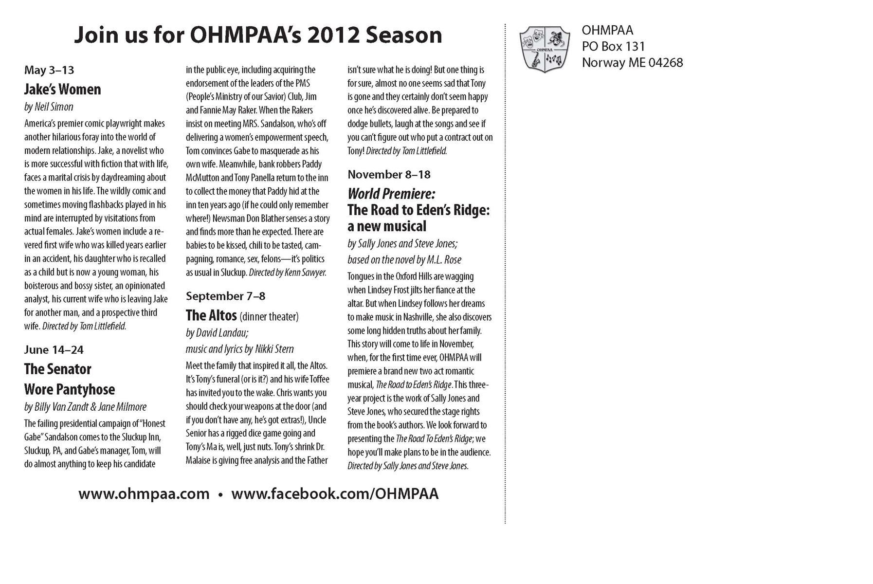 OHMPAA 2012 Postcard 2