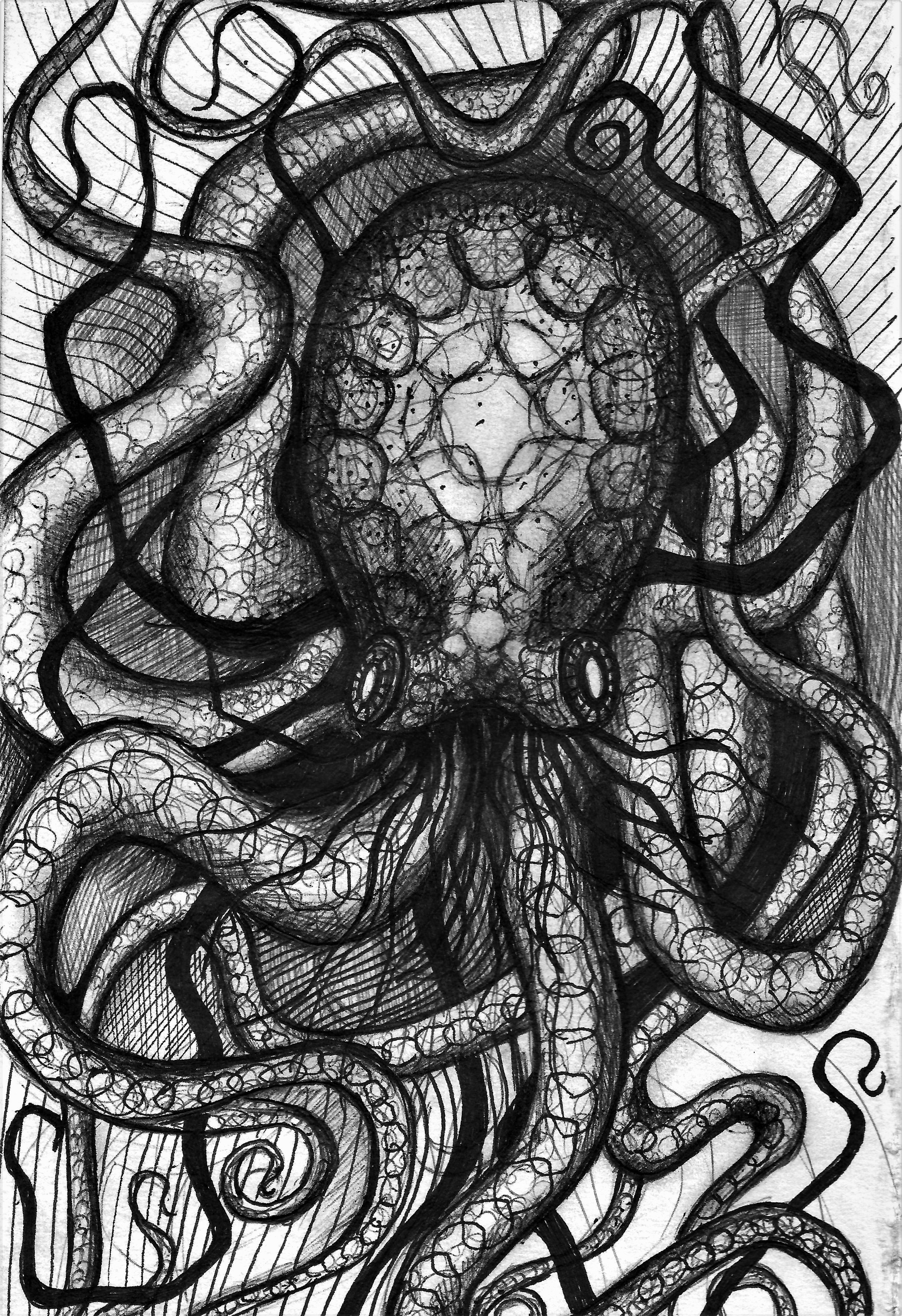 (Octopus) pen on paper