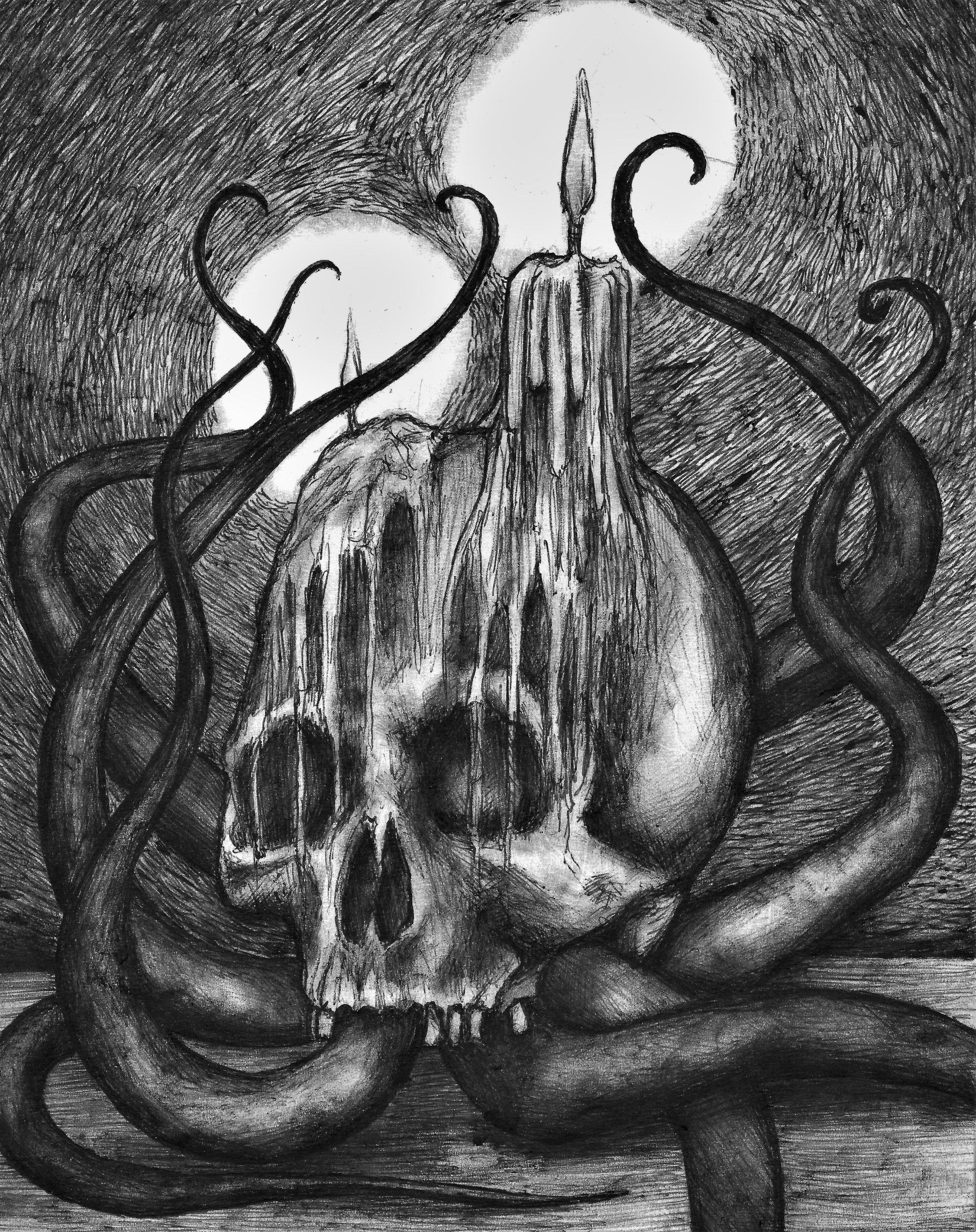 (Skull) pen on paper