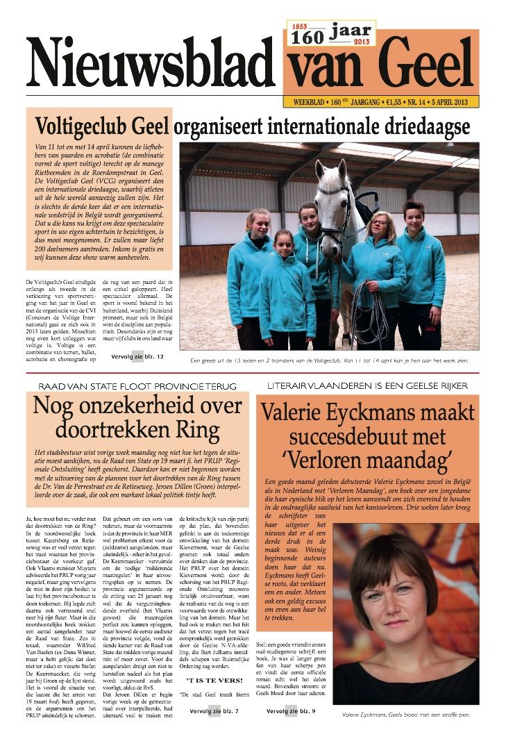 Nieuwsblad van Geel (1) - april 2013