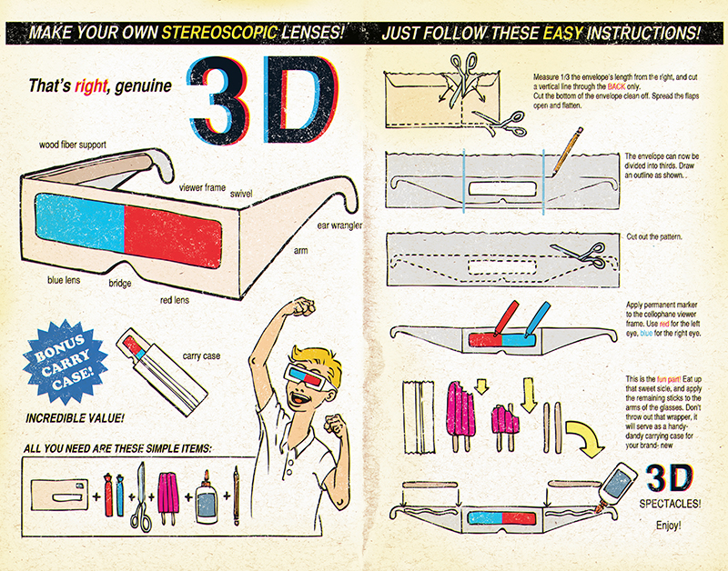 DIY 3D glasses instructions. Really works!
