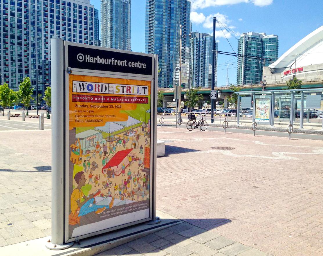 Toronto poster on display