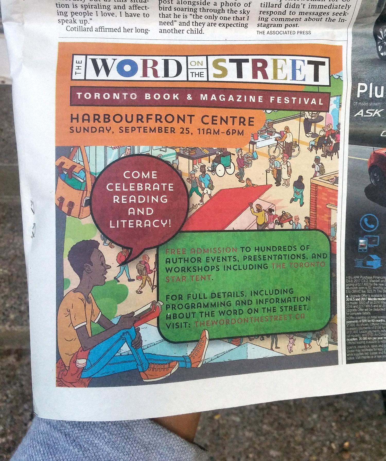 Local newspaper ad