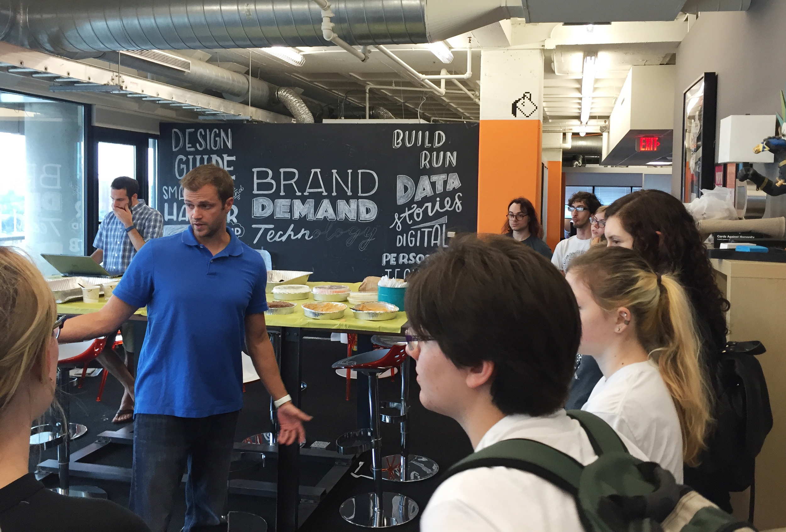Tim Frost, Creative Director at r2i, led us on a tour of their space.