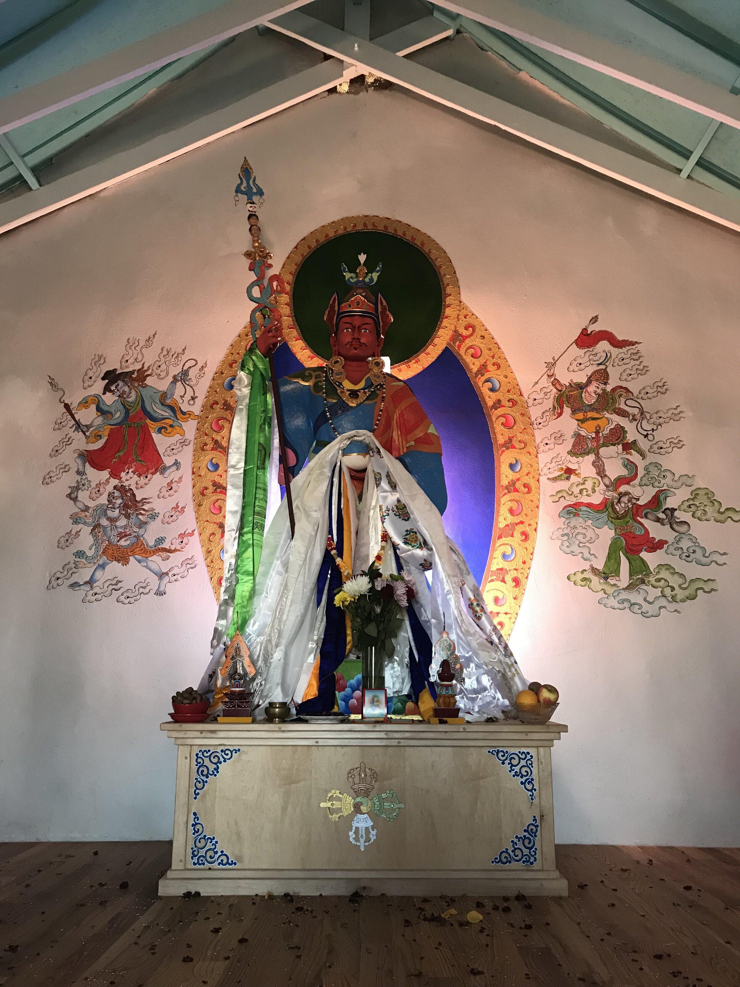 Sampa Lhundrumpma Statue at Orgyen Choling in Tularosa, NM