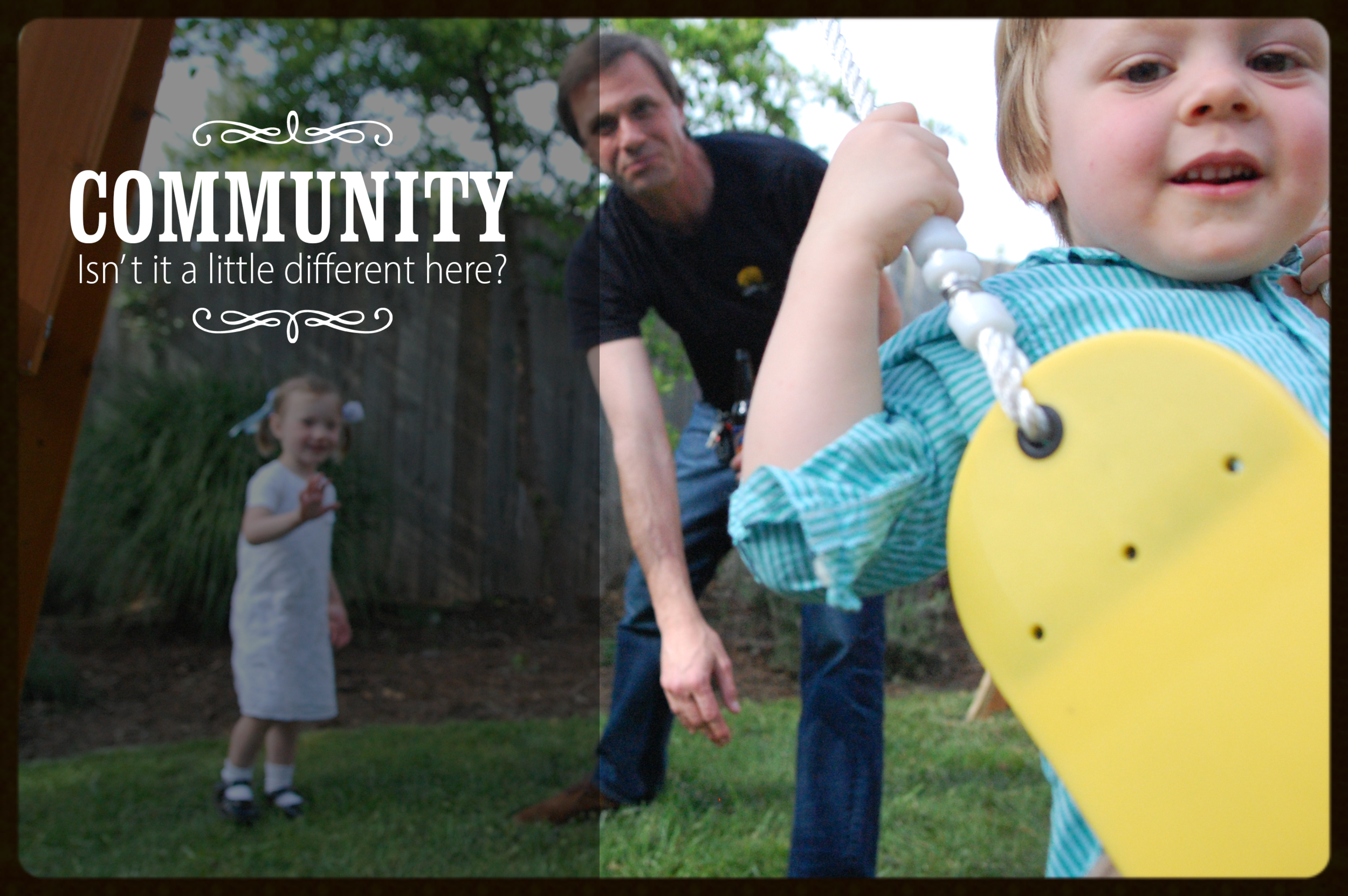 Photo :: Community. Isn't it a little different here in Charlottesville?
