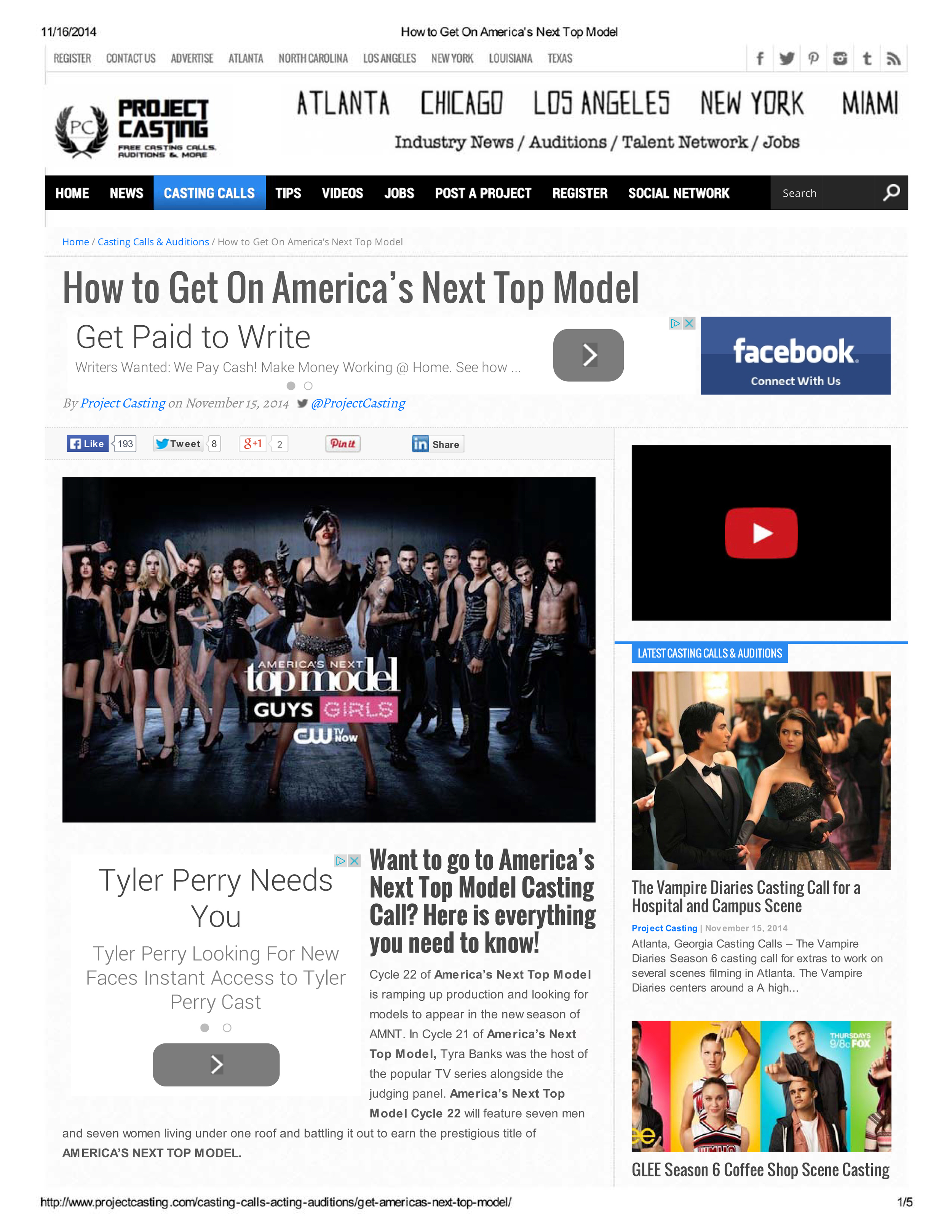 How to Get On America's Next Top Model