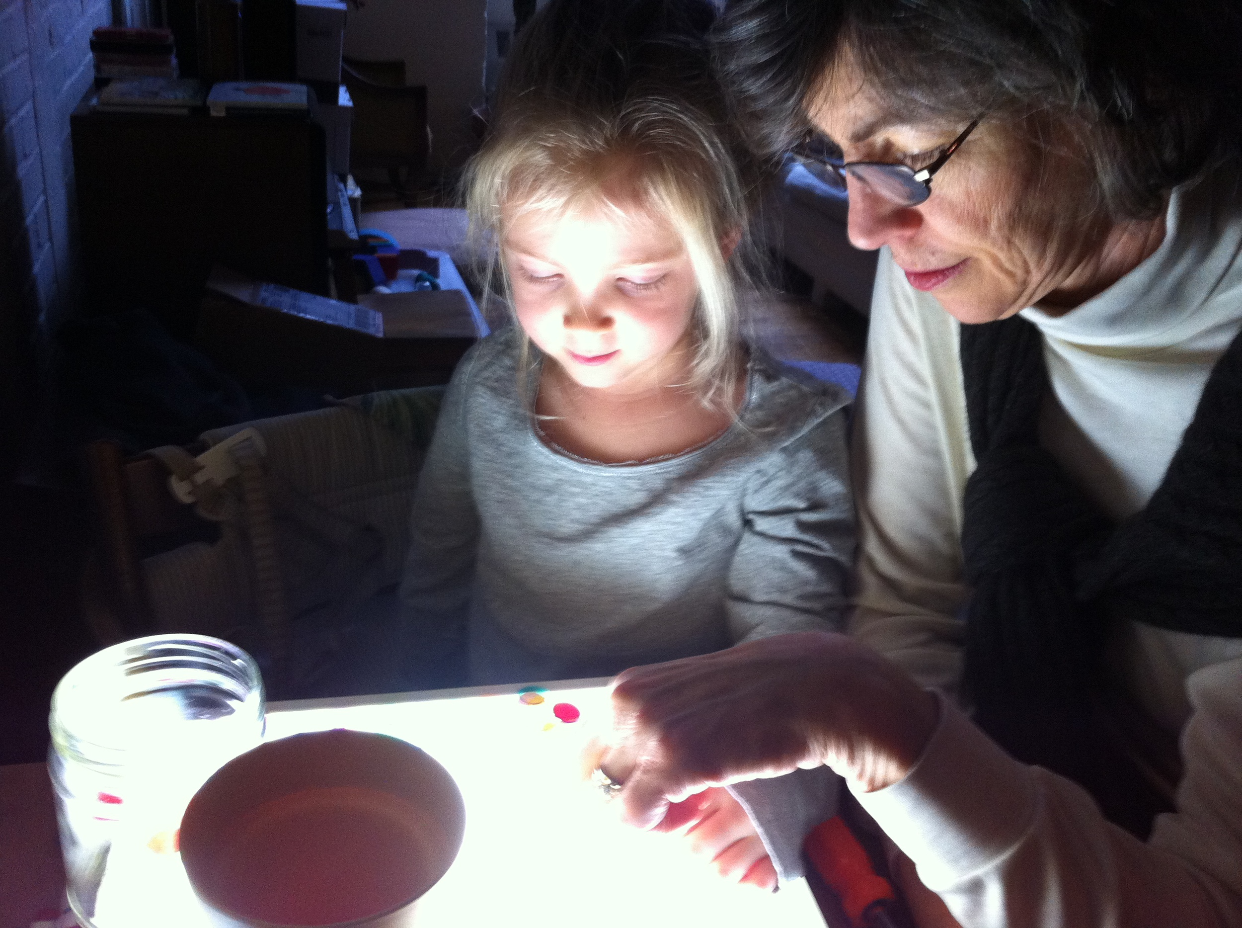 Magnolia and her Tatty prepare for Winter Light. Find & Seek is developing a program which will facilitate young children collaborating with elders on materials exploration and storytelling.