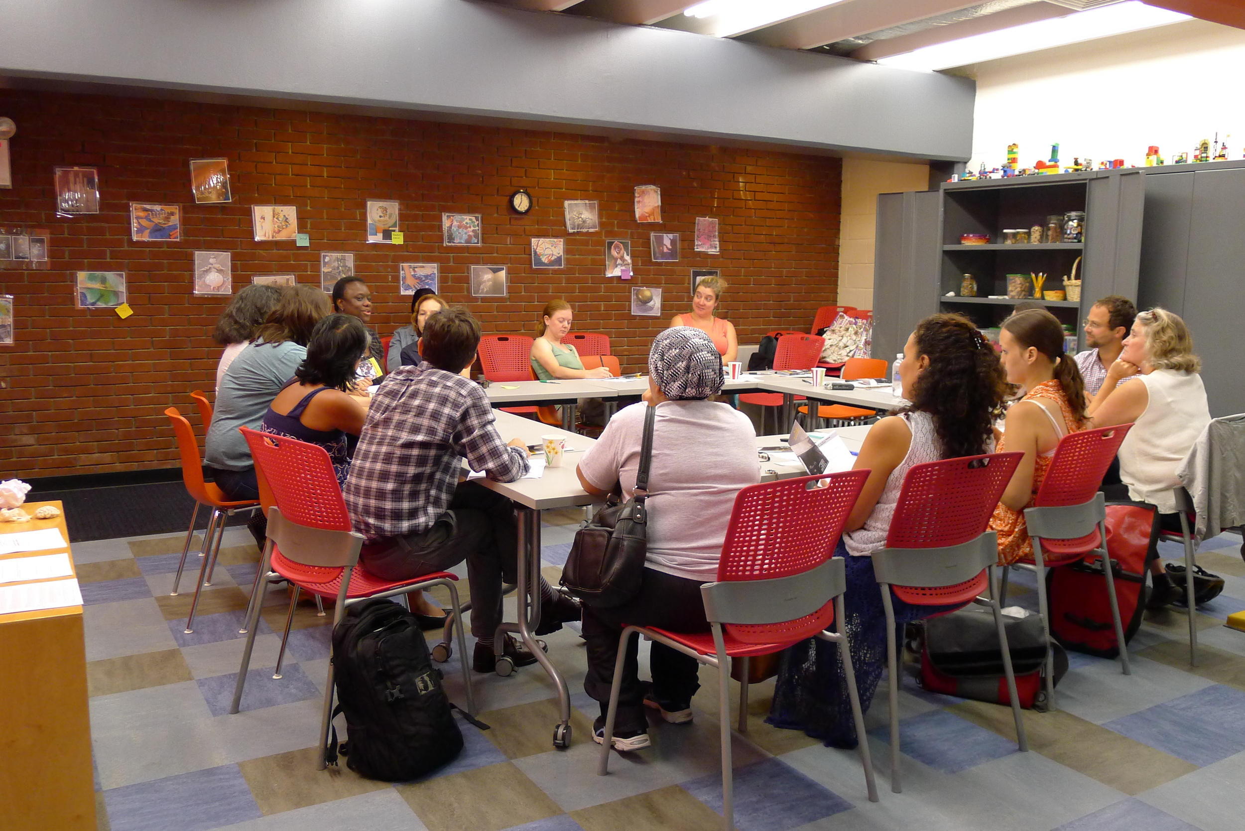 Sept 10 education round table at our Find & Seek venue, the back classroom of the Red Hook Public Library.