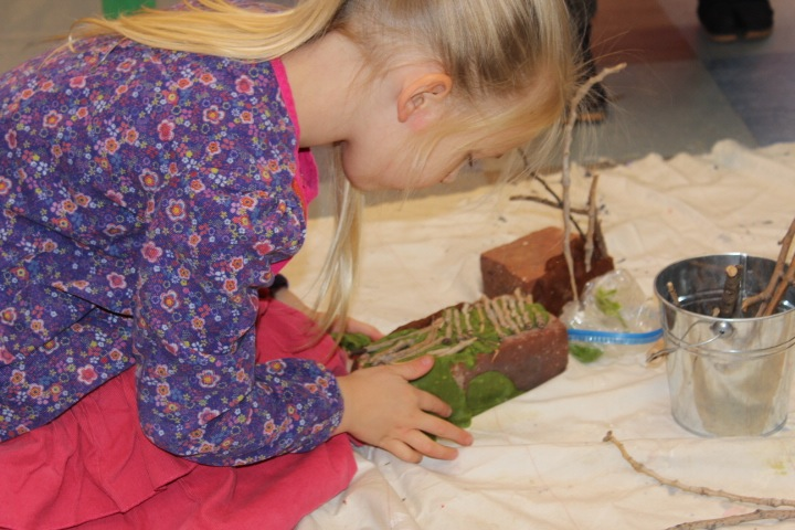 Many children love to take time to look closely and take pride in discovering new worlds of their own creation.