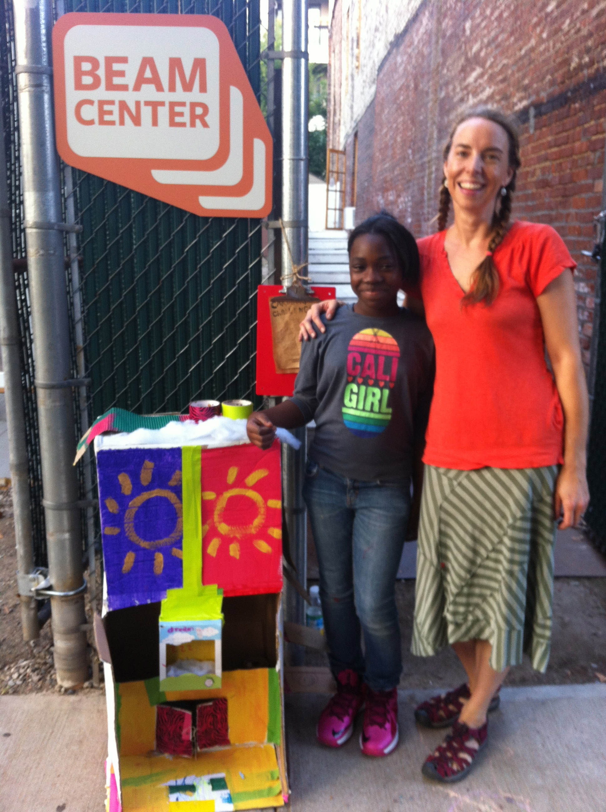 Heaven has grown up since   Spirit Ship  ! But is still a dreamer. Her house of dreams was such a sweet element created during the Cardboard Challenge. Heaven, now 11, worked so hard on it, and wanted to take it home.