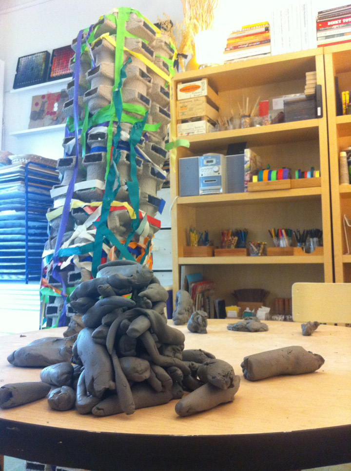 "The Studio at Beginnings, in NYC, opens my mind to the potential of children to take part in in-depth materials-exploration and to make powerful and meaningful art. I love this pile of ""snakes"" a 4-year-old made out of clay."