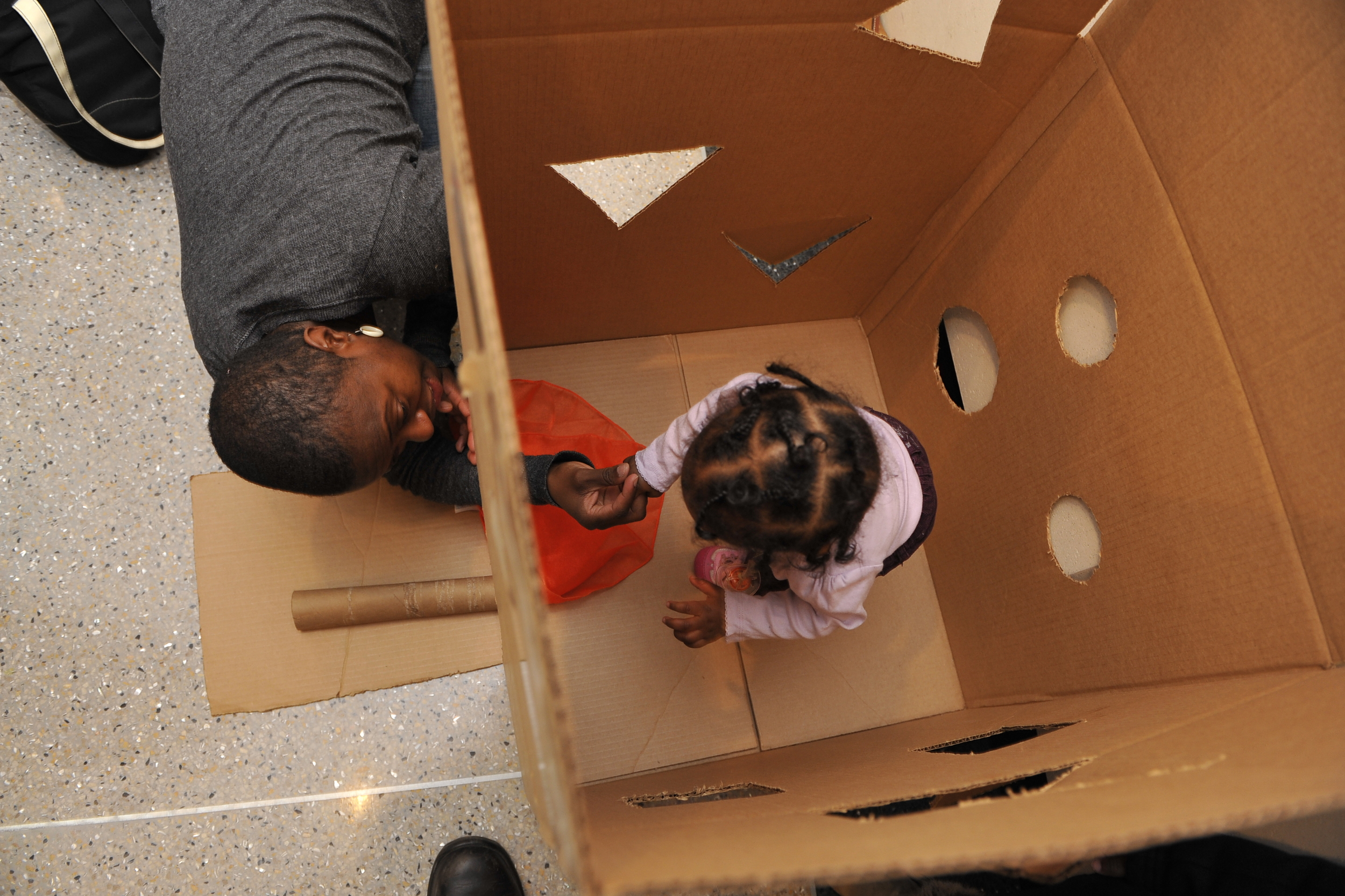 The potential of the humble cardboard box for making real and heartfelt connections is boundless.