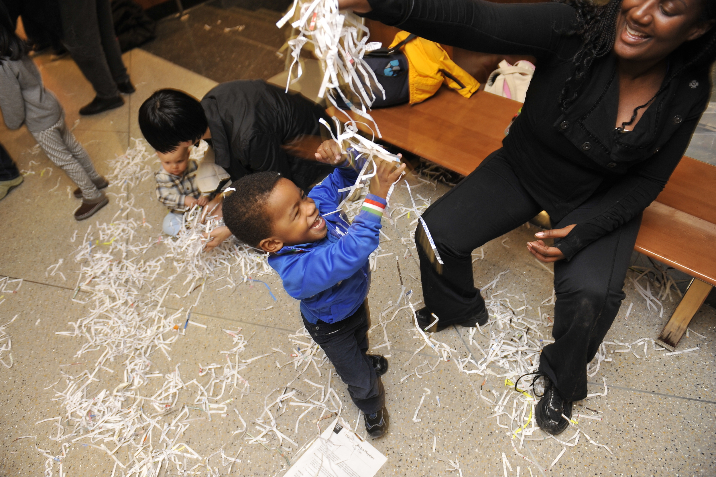 When do children have the opportunity to explore the wonders of shredded paper? All too infrequently...