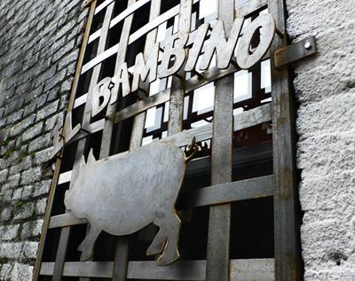 Il Bambino Window Guard and Sign