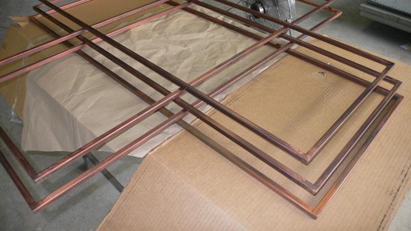 Patinaed frames
