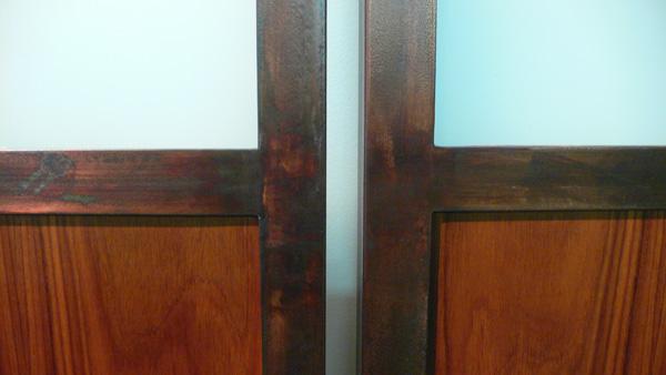 Close up of doors