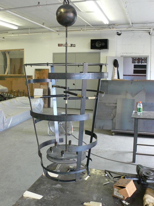 Light fixture frame (before copper mesh)