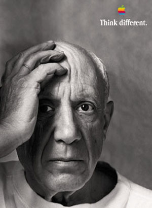 Pablo Picasso - Apple Think Different  Image my be subject to copyright