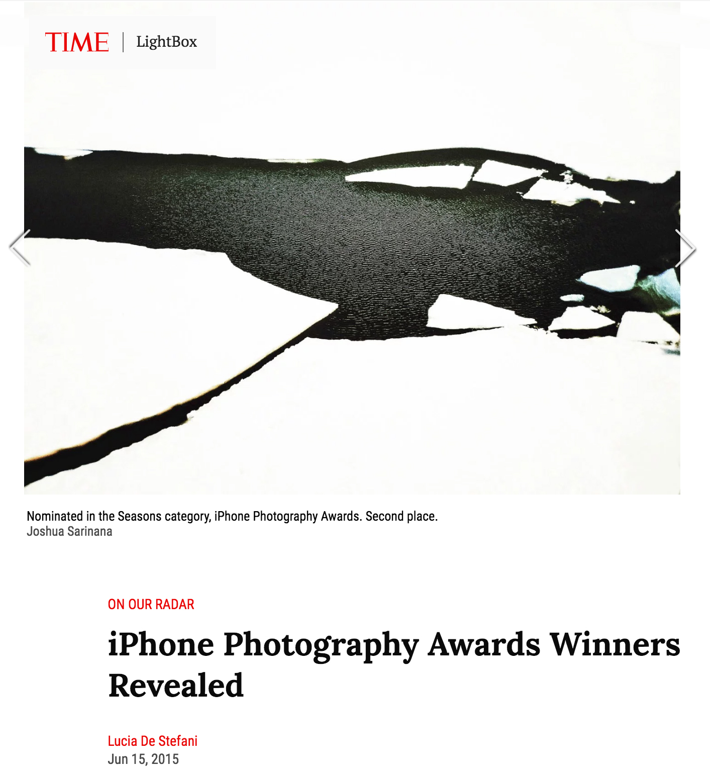 Time Lightbox - 2015 iPhone Photography Awards