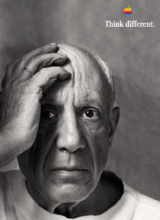 Pablo Picasso – Apple, Think Different Image.