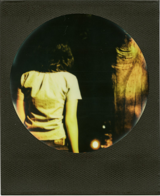 Pining Past – Joshua Sariñana, Original image caught on 35mm film using a Canon SLR, post-processed in iPhone, transfered to Impossible Polaroid Film
