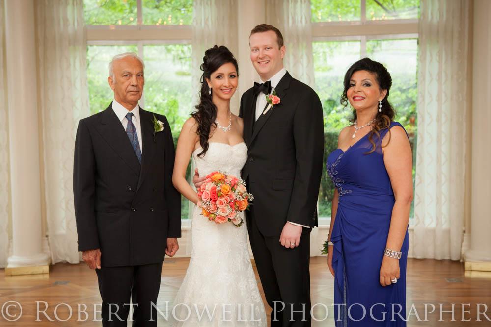 bride's family Queens, Landing