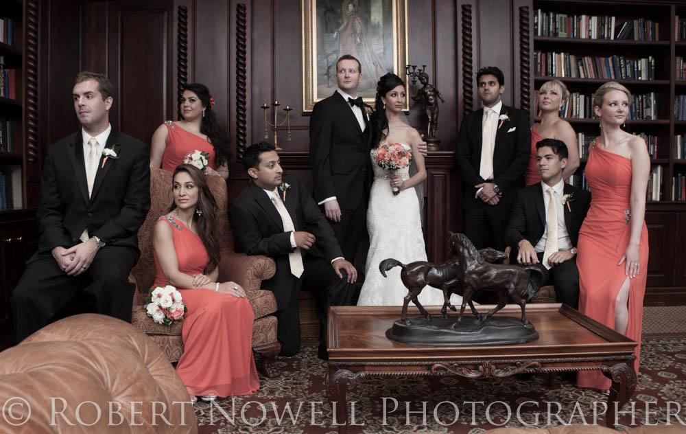 Queen's Landing Library, wedding party, Niagara photographer