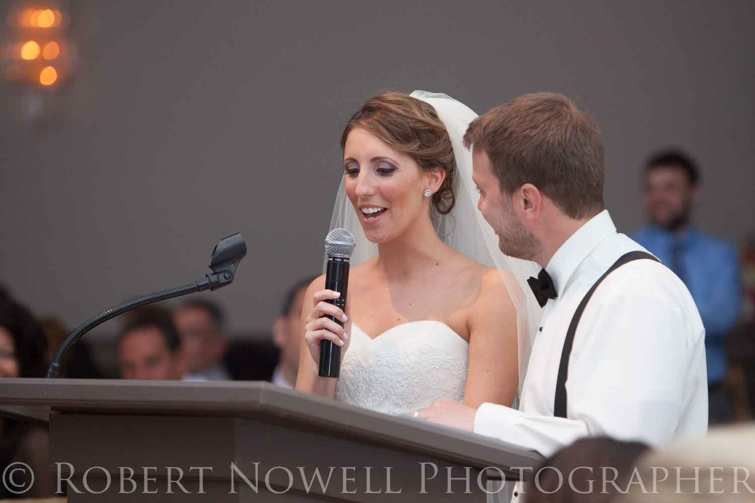 bride and groom speech, wedding reception