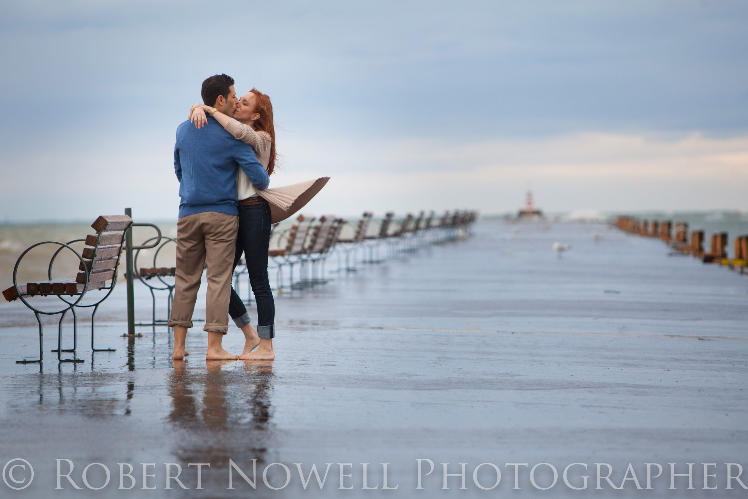 Lake Ontario, crashing waves and romance