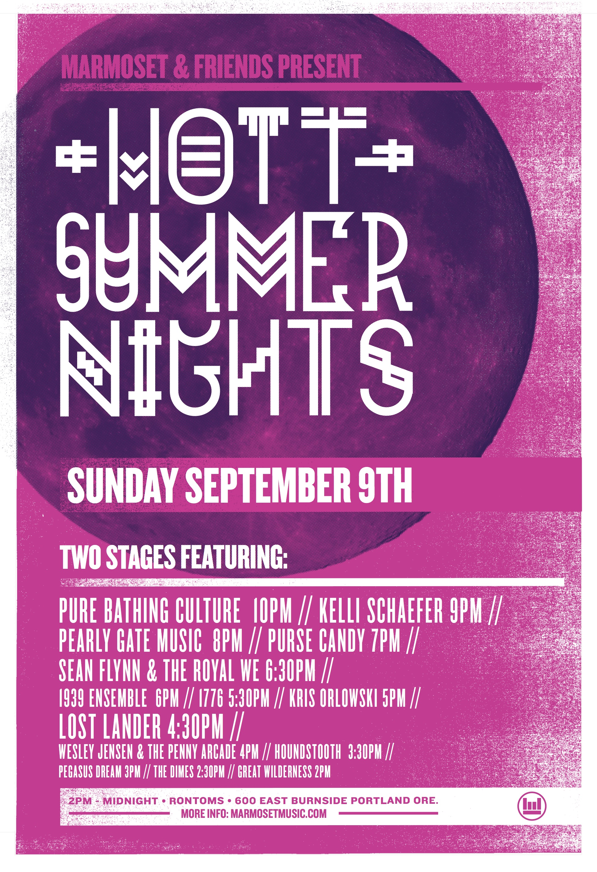 MusicFest NW Party 2012 // Hott Summer Nights // Marmoset Music // Portland, Oregon // MFNW