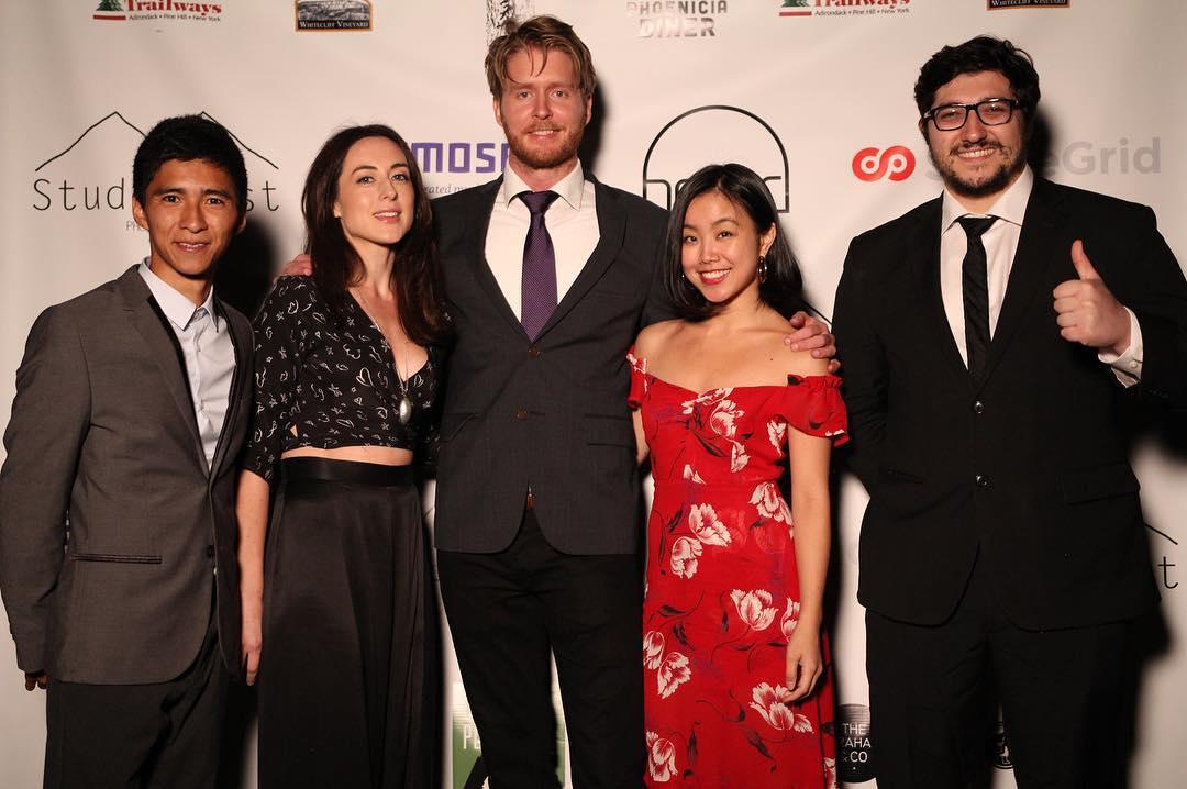 Several StudioFest finalists from left to right: David Siev, Millie Rose Heywood, Rolv Lyssand Bjørø, Anna Mikami, and Daniel V. Masciari (Photo credit:    StudioFest   )
