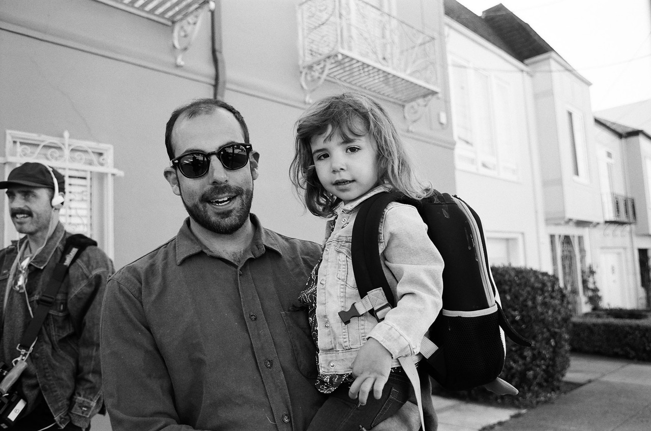 Jeremy Summer and daughter California Summer on the set of  How It's Goin'