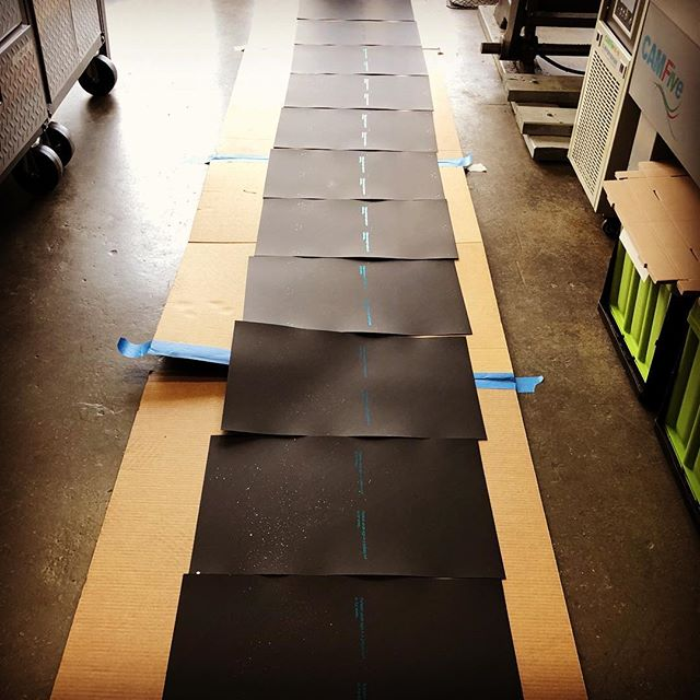 When your shop's floor also serves as a drying rack 👣👩🏻‍🎨🎨 #silverpaint #letitdry  We love clients with special projects and their challenges • • • We are a design and paper studio located in #littlerivermiami specializing in #letterpress, #foil, #digitalprinting and #lasercutting. Proudly offering #specialtyprinting and #customdesign for #weddinginvitations, #dayofstationery, #corporateevents and so much more for our amazing clients in #Miami and #beyond