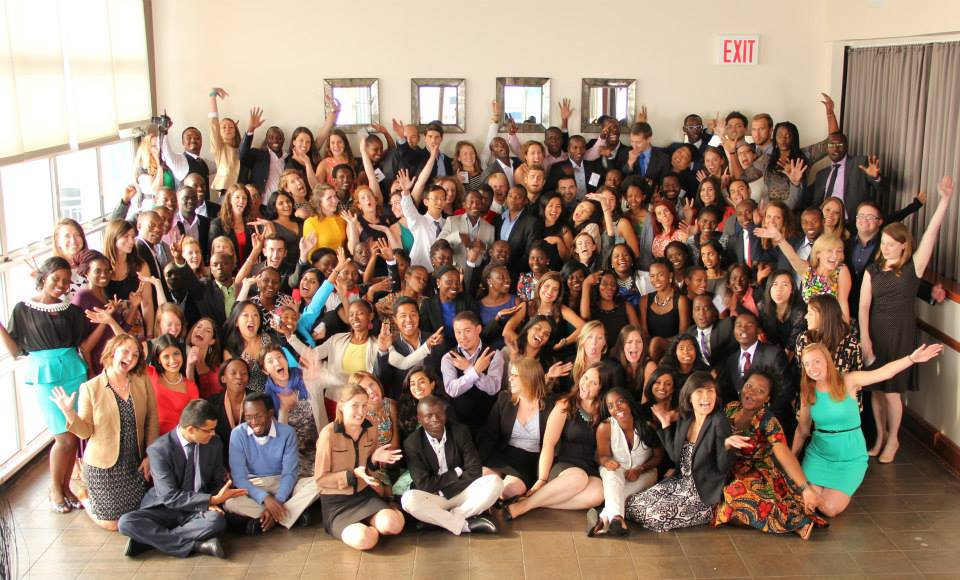 The newest class of 128 fellows from 22 countries gather for their class photo at the 2014 Global Health Corps Training Institu  te (Photo courtesy of Global Health Corps).