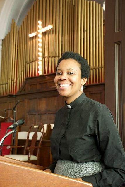 Rev. Jennifer Bailey at Brown Chapel African Methodist Episcopal Church in Selma, Alabama.