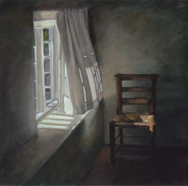 Window - Summer Morning - Dorset  by Fanny Rush Oil on Canvas, 67cm x 67cm