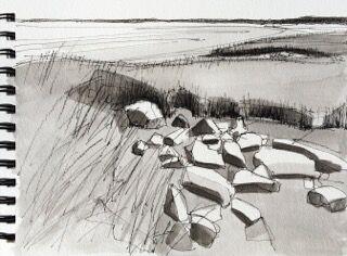 Low Tide Ink Study  by John Rufo