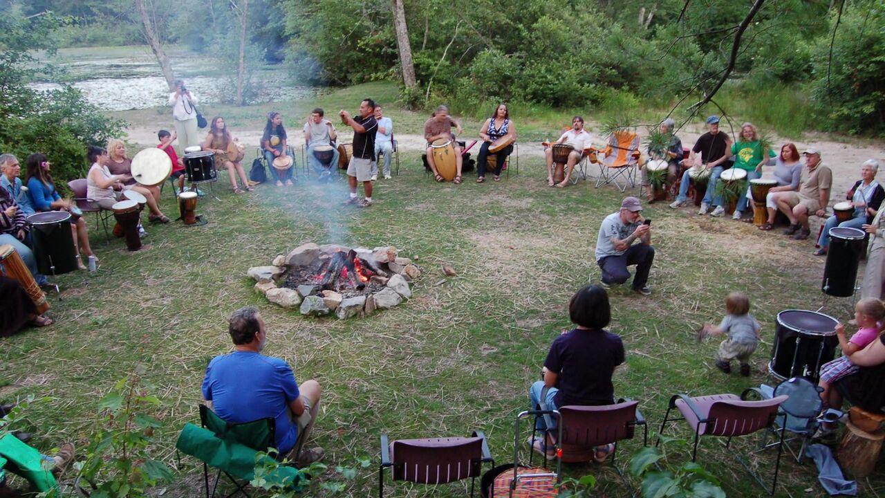 Drum Circle , Photograph courtesy of Jana Amsellem