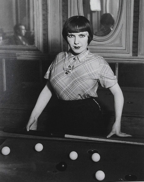 Prostitute playing billiards, Boulevard Rochechouart, Montmartre, c. 1932