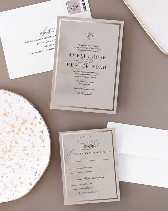 Pinkies up! My new wedding suite 'Polished' is available @minted #mintedweddings
